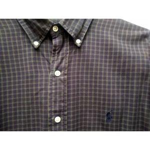 Ralph Lauren Blake Plaid Button Down Shirt L